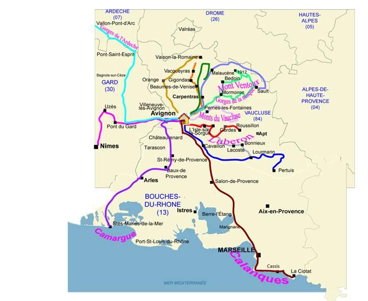 vaucluse route des vins